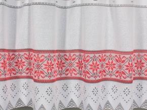 0.53м Т415А/53 ПОЛОТНО ГАРДИННОЕ белый с красным