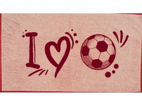 6с103.412ж1 Я люблю футбол Полотенце махровое 50х90см