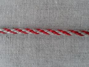 05С2272-Г50 ШНУР ОТДЕЛОЧНЫЙ лён с красным 5мм
