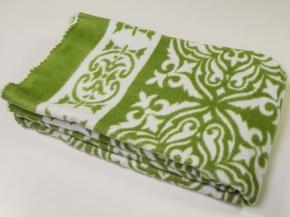 Одеяло хлопковое 140*205 жаккард  1/23 цв.зеленый