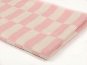 Одеяло хлопковое 100*140 клетка  цв.нежно-розовый