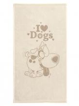 "6с103.512ж2 ""I love dogs"" Полотенце махровое 50х90см"