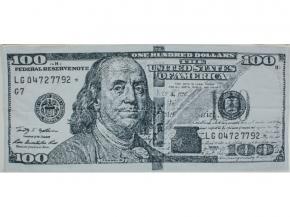 6с102.411ж1 100-долларов Полотенце махровое 67х150см