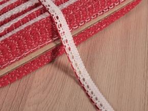 12мм. 6993 ТЕСЬМА ОТДЕЛОЧНАЯ белый с красным 12мм (рул.50м)