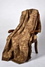 """Одеяло п/шерсть 50% 140*205 жаккард """"Листья"""" цвет коричневый"""