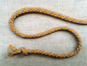 ШХ8-005-3/4 Шнур, D-5мм, х/б 100%, льняной/желтый