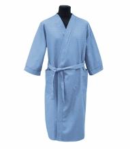 Халат вафельный мужской р-р 56 цвет голубой
