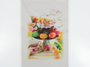 """16с399-ШР/п.р 50*70 полотенце """"Пасхальный завтрак"""""""