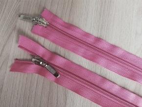 Молния витая разъемная Т5,2 замка 45см, розовый (уп.50шт)