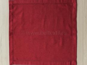 """16с-4ЯК  Комплект салфеток из 6 шт 45*45  """"Атласные"""" цв. бордовый"""
