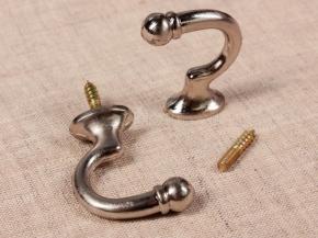 Крючок Круг-02 матовое серебро