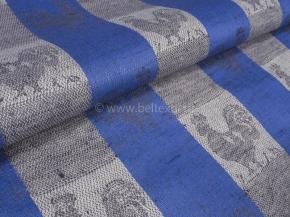 Холст п/лен жаккардовый арт. 601167 Петух синий 1*508/4, ширина 50см