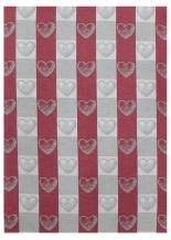 18с52-ШР/п.р. 49*70 Полотенце Сердечки цв. красный