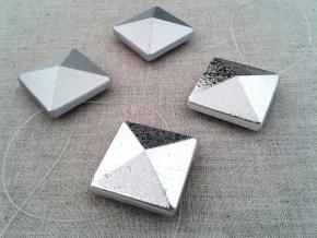 Магнит Квадрат-01А на леске серебро (уп.2шт)