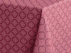 """3831-БЧ  Скатерть  145*145  4502-05 """"Орнамент"""" цв. темно-розовый"""