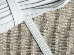 0,8см. Резинка ткацкая 8мм, белая (рул.50м)