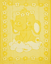 Одеяло хлопковое 100*140 ЛЮКС жаккард 14/16 цвет желтый