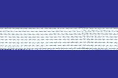 Тесьма вязан.окантовочная 18мм (2,1г/м) белая (рул.100м)