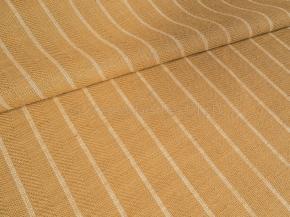 Ткань костюмная арт 06С-25ЯК п/лен пестротканый рис. Полоска белый/бежевый, ширина 150см