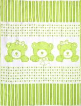 Одеяло хлопковое 90*100 жаккард 19/5 цвет салатовый
