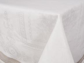 """0с34 ЯК   Скатерть  178*178  """"Вернисаж""""  цв.белый с серым"""