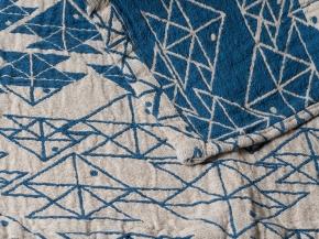 """17с356-ШР/у 56*110 полотенце """"Оригами"""" 4 морская волна"""