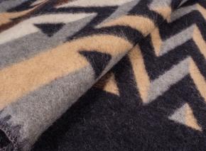Одеяло п/шерсть 85% 140*205  жаккард  цвет 5 коричневый