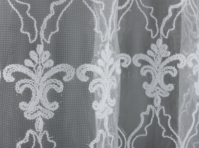 2.80м Сетка с вышивкой B57 123132 KORD V1-BEYAZ BEYAZ белый