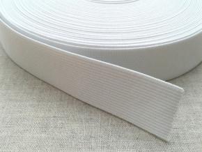 25мм. Резинка ткацкая 25мм, белая (рул.40м) арт.17с12