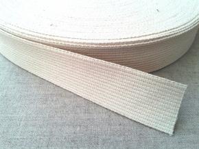 4С524-Г50 ЛЕНТА РЕМЕННАЯ (хл-100%) белый 32мм (рул.30м)