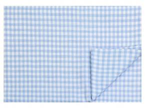 14с78-ШР 220*144 Простыня цв 1 рис 10 клеточка голубой