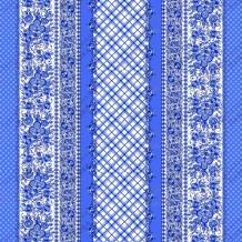 Вафельная -универсал В16 рисунок 4261-1 Гжель синий ширина 150 см