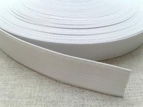 Резинка вязаная 20мм, белая (рул.25м)