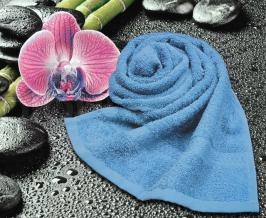 Полотенце махровое Amore Mio GX Classic 33*70 голубой