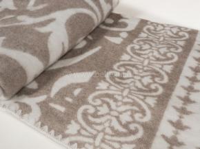 Одеяло п/шерсть 50% 140-205  жаккард  Вензель  цв. беж.