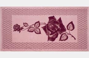 """4с82.101 """"Роза на сетке"""" Полотенце махровое 81х160"""