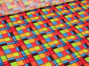 Вафельная-универсал В16 рисунок 4991/1 Клетка цвет красный ширина 150 см