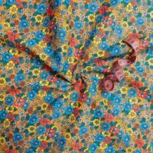 Бязь набивная плательная  рисунок 1609/5 оранжевый ширина 150см