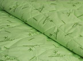 Тик набивной 100% х/б рис BAMBOO 1A B Бамбук на светло-зеленом, ширина 220см