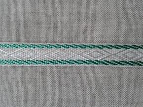 08С3474-Г50 ЛЕНТА ОТДЕЛОЧНАЯ лен с зеленым 12мм