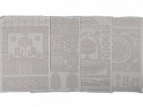 21С192-ШР+К/фкор 330/332 Комплект полотенец из 4 шт., 47*70, лен-28 хлопок-72