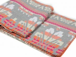 Одеяло хлопковое 200*205 жаккард  37/8 серый с розовым