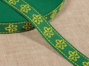 06С3324-Г50 ЛЕНТА ОТДЕЛОЧНАЯ зеленый с желтым 18мм (рул.50м)