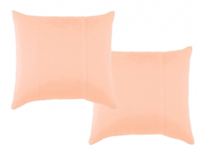 К-кт наволочек трикотажных (2 шт) 70*70 цвет персик
