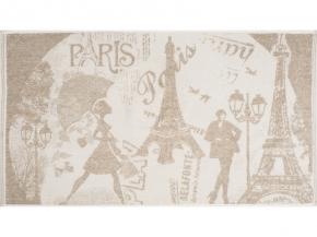 6с102.513ж2 Мечты о Париже Полотенце махровое 81х160см Лен+х/б