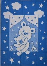 Одеяло хлопковое 100*118 жаккард цвет синий