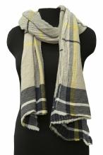 17с381-ШР Палантин 50*185 цвет 1 серый с желтым