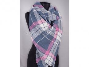 17с128-ШР/039 Платок  женский 110*110  цв.2 серый с розовым