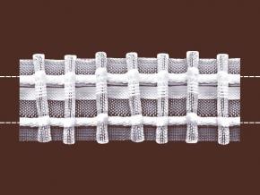 30мм. 0С794ПЭ-Г50 ЛЕНТА ДЛЯ ШТОР белый 30мм, параллельная (рул.50м)