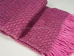 Плед п/шерсть Элегант 170*200 цв. розовый